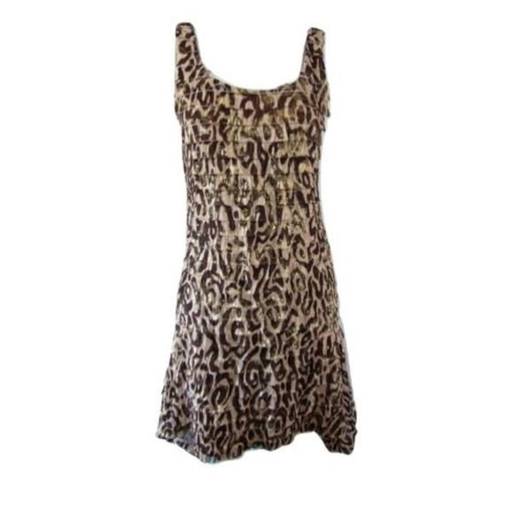 Joseph Ribkoff Dresses & Skirts - Joseph Ribkoff Animal Print Ruffled Dress 8